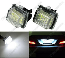 2 Bulbs Super White LED License Plate Lights For Benz E-Class W212 2010-2014