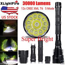 XLightFire 32000LM 12x CREE LED XML T6 5Mode Flashlight Torch Light Super Bright