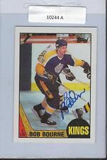 Bob Bourne 1987 Topps Autograph #167 Kings