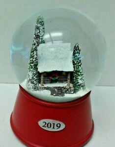 Snow globe 2019 Wood Cabin Musical Water Globe Winter Scene House Xmas Holiday
