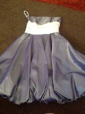 Stunning Blue Satin Look Ballgown/Bridesmaid Dress From Alexia Designs Size 6