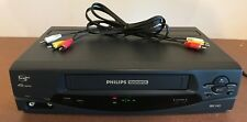 Philips Magnavox VRZ242AT21 Video Cassette Recorder VCR VHS 4 Head w/ A/V cable