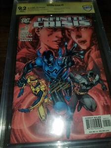 Infinite Crisis #5 9.2 CBCS DC 2006 Jim Lee Cover SIGNED JIM LEE