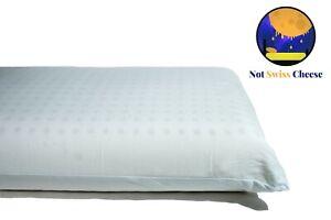 *2 Pack* Standard Size Firm Dunlop Latex Foam Pillow - Not Swiss Cheese