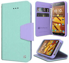 MINT PURPLE INFOLIO WALLET CREDIT CARD ID CASH CASE FOR KYOCERA HYDRO ICON C6730