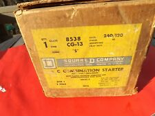 NOS SQUARE D Combination Starter 8538 CG-13 Nema Type 1 3 Pole 120/240 Volts