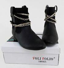 Stiefeletten Foli Folio Shoes Booties Schlupf Kunstleder schwarz Gr. 37