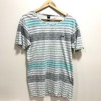 Oakley Mens Short Sleeve T-Shirt Size S Slim Fit Variegate Striped