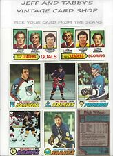 1977-78 TOPPS HOCKEY SEE SCANS # 1 TO # 119