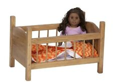"""BABY DOLL CRIB Amish Handmade in USA Fine Wood Play Furniture for 12-18"""" Dolls"""
