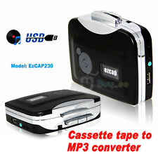 New Tape to PC USB Cassette-to-MP3 Converter Capture Audio Music Player handy UK