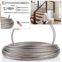 "1/8"" Cable Railing 316 Stainless Steel Kit 36"",1/8 250 Ft Full Kit +CABLE CUTTER"