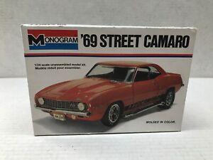VINTAGE MONOGRAM 1/24 SCALE 1969 STREET CAMARO JUNKYARD MODEL KIT