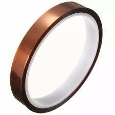 2 pcs 1cm Width 30M Heat Resistant Thermal Kapton Polyimide Film Adhesive Tape