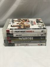Lot of 5 Playstation 3 PS3 Video Games Infamous, Madden II, Grand Theft Auto IV