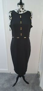 PINK BOUTIQUE WOMEN'S BLACK DRESS SIZE UK 14 BNWT