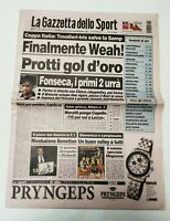 GAZZETTA DELLO SPORT 25 SETTEMBRE 1997 COPPA ITALIA SEMIFINALE JUVENTUS
