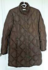 Ladies Puffer Eddie Bauer Parka Goose Down Coat Petite Medium Choc Brown EUC