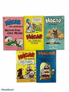 Lot Of 5 Hagar the Horrible Books By Browne - Vintage Comics