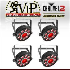 (4) Chauvet FXpar 9 Multi-Effect LED PAR Light Strobe RGB + UV Lighting Fixture.