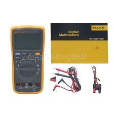 FLUKE F17B+ 17B+ Digital Multimeter Meter LED Backlight +2x Batteries SZ#