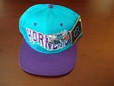 CHARLOTTE HORNETS G-CAP   BIG LOGO  SCRIPT VINTAGE 90'S HAT CAP  SNAPBACK