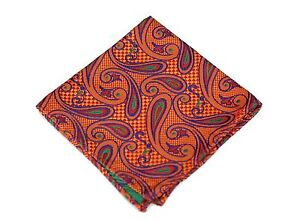 Lord R Colton Masterworks Pocket Square - Capilla Sunset Silk - $75 Retail New