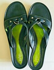 INDIGO BY CLARKS WOMEN SANDALS  10M GENUINE LEATHER UPPER BLACK