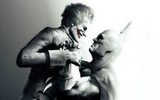 The JOKER Batman Arkham City BLACK and WHITE MOVIE 24x36 inch Poster