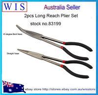2/PK Long Nose Pliers Set Straight Bent Tip Mechanic Equipment Hand Tool-83199