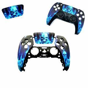 PS5 Controller Gehäuse Cover Case Hülle Oberschale | Blue Fire Soft Touch Finish