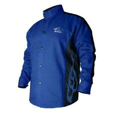 Black Stallion BXRB9C BSX Contoured FR Cotton Welding Jacket Royal Blue Medium