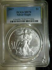 >2017  AMERICAN SILVER EAGLE DOLLAR, PCGS MS70, Perfect Coin>> 2017 SILVER EAGLE