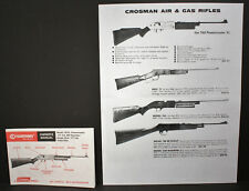 Crosman Model 761XL Power Master Rifle Uncirculated NOS Owners Manual & Ad Sheet