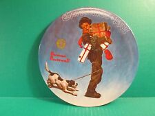 """Norman Rockwell Christmas 1981 """"Wrapped Up In Christmas """" Knowles Fine China"""