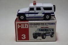 Tomica #3 Toyota Megacruiser Patrol Car