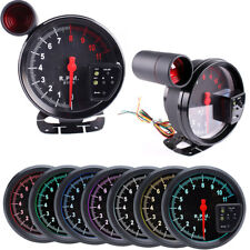 12V 5'' Tachometer Gauge 7 Color LED lighting For 4/6/8 Cylinder Engine Vehicles