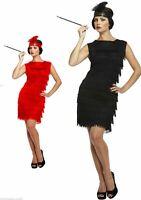Black Flapper Dress 1920s Fringe Flapper Charleston Cocktail Gatsby Party Dress