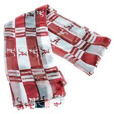 Alabama Crimson Tide red & white  logo scarf!   NEW!
