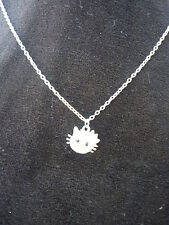 Silver plated Hello Kitty Pendent Crystal Rhinestone Necklace