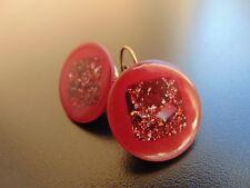 Ohrringe Ohrhänger Vintage  bronze mit Kunst rotwein Perlen , von Catia Levy