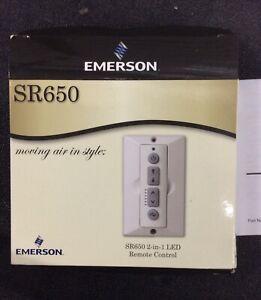 Emerson SR650 2-In-1 LED Speed Control Fan Remote  White (B496)