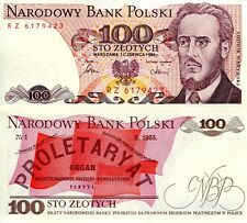 POLAND 100 Zlotych Banknote World Paper Money UNC Currency Pick p143e 1986 Bill