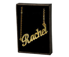 """Name Necklace """"RACHEL"""" - 18ct Gold Plated - Christmas Birthday Personalised Gift"""