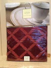 """New Unused Lenox Laurel Leaf Rust Color Red Oblong Table Linen 70 x 86"""" Holiday"""