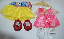 Disney Build-A-Bear BABW Snow White Dress Shoes & Sleeping Beauty Crown Lot