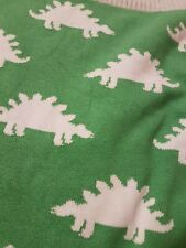 grün weisse Babydecke Krabbeldecke mit Dinosaurier oder Drachen Motiv 85x75 cm