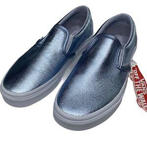 Vans Slip On Metalluc Bkue Women Size 7.5