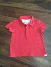 Baby Gap Toddler Boys Collared Red Polo Shirt size 12-18 Months