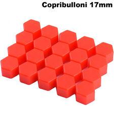 20x Copribulloni 17mm copri bullone silicone ROSSO bulloni tappo ruote auto car